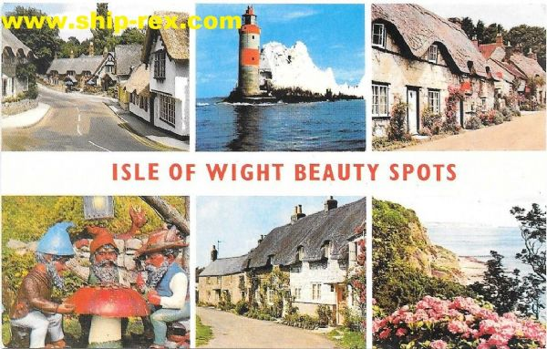Isle Of Wight Beauty Spots, postcard (a1)